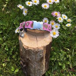 """Kleines Hundehalsband """"Alpenliebe pink"""""""