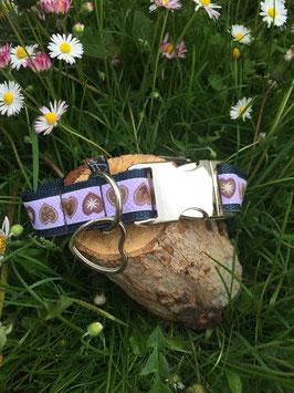 """Hundehalsband """"Alpenliebe lila"""""""