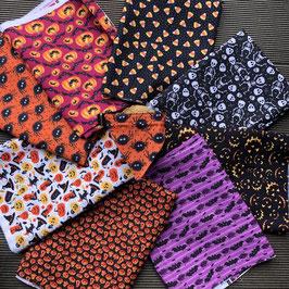 HALLOWEEN - Hundetuch-Halsbänder,  Stoff  + Größe frei wählbar