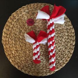 Fleece Zergel rot-weiß 7