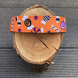 """Hundehalsband """"Halloween Süsses oder Saures orange"""""""