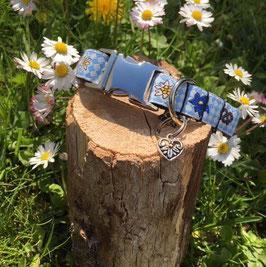 """Kleines Hundehalsband """"Bayerisch weiß-blau"""""""