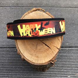 """Hundehalsband """"Happy  Halloween"""" Einzelstück"""