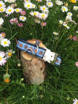 "Hundehalsband ""Alpenliebe himmelblau"""