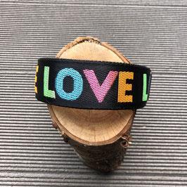 "Hundehalsband ""LOVE""  bunt"