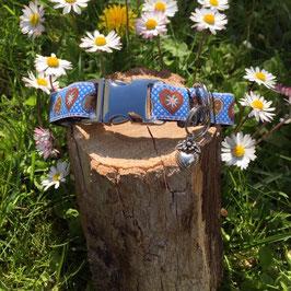 """Kleines Hundehalsband """"Alpenliebe himmelblau"""""""