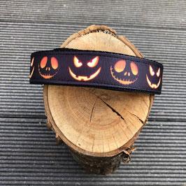 "Hundehalsband ""Halloween Kürbis schwarz"""