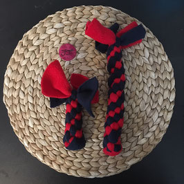 Fleece Zergel rot-blau 5