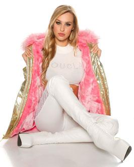 Parka pink gold