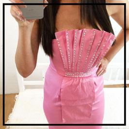 Kleid *Satin Pink* mit wunderschönen Steinchen