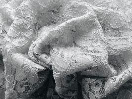 Spitze Sally Weiß mit  Glitzer bi-elastisch