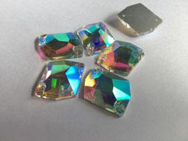 Aufnähsteine Cosmic 22X27mm - col.Kristall AB