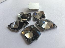 Aufnähsteine Cosmic 22X27mm - col.Black Diamond