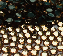 Strasssteine Starlight DeLuxe 8+8 SS16 Hotfix 100 Stück Champagner