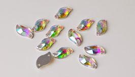 Aufnähsteine S  6X12mm - col.kristall AB