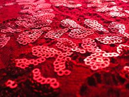 Spitze Jil Rot mit Pailletten bi-elastisch