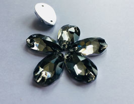 Aufnähsteine Teardrop 10,5X18mm - col.Black Diamond