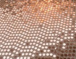 Lycra Disco Champagne-Rosegold mit Pailletten