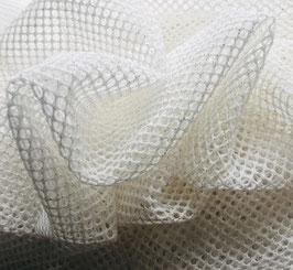 Netzstoff RETE Weiß-Gold mit Glitzer