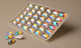 Aufnähsteine Teardrop 10,5X18mm - col.kristall AB