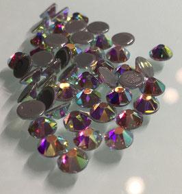 Strasssteine Starlight DeLuxe 8+8 SS16 Hotfix 100 Stück Kristall AB