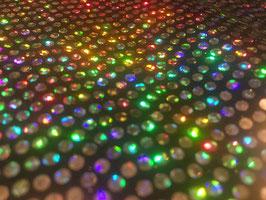 Lycra Disco Silber mit holographischen Pailletten