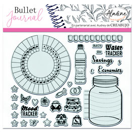 """Tampons transparents Bullet journal """"trackers 1"""" - Aladine"""