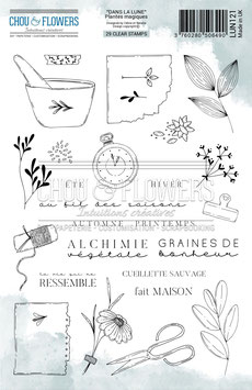 """Tampons clear """"Plantes magiques"""" - Chou&Flowers"""