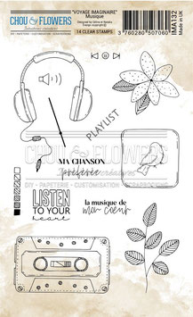 """Tampons clear """"Musique"""" - Chou&Flowers"""