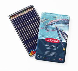 Boite 12 crayons aquarelle - Derwent Inktense