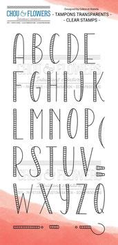 "Tampon clear ""Alphabet"" - Chou & Flowers"