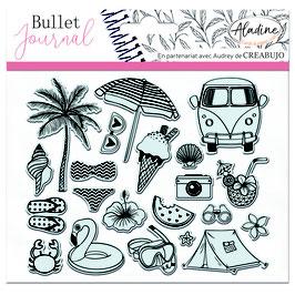 "Tampons transparents Bullet journal ""vacances"" - Aladine"