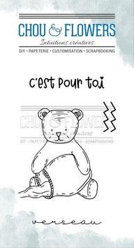 "Tampons clear ""Doudou Verseau"" - Chou&Flowers"