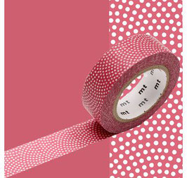 "Masking-tape ""pois samekomon rouge-rose"" - MT"