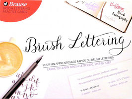 Feuilles d'apprentissage Brush Lettering - Brause