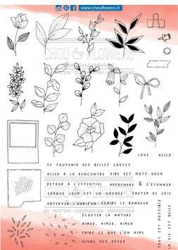 """Tampon clear A4 """"Botanique perpétuelle"""" - Chou Flowers"""