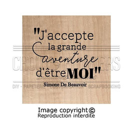 "Tampon bois ""La grande Aventure"" - Chou Flowers"