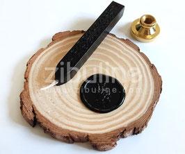 Baton de cire à mèche NOIR - Zibuline