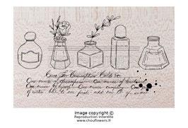 """Tampon bois """"les encriers"""" - Chou&Flowers"""