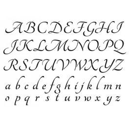 Pochoir alphabet A4 anglaise - Artemio