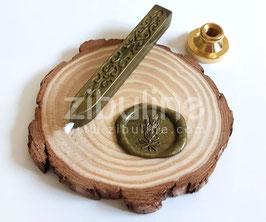 Baton de cire à mèche KAKI - Zibuline