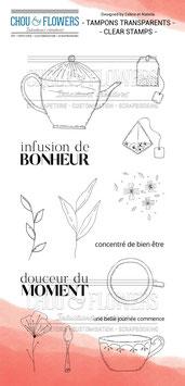 """Tampon clear """"Infusion de bonheur"""" - Chou Flowers"""