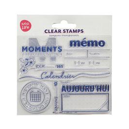 "Tampons clear ""mémo"" - Kesi art"