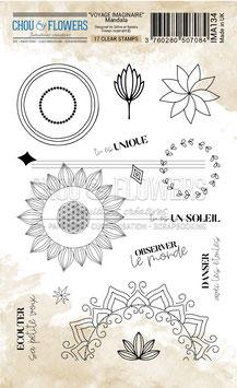 "Tampons clear ""Mandala"" - Chou&Flowers"
