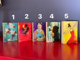 Kunstdruck auf MDF-Block in den 5 beliebtesten Motiven