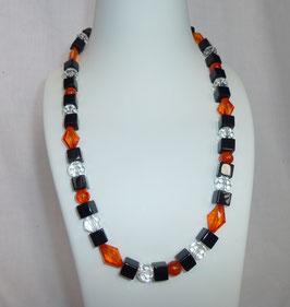 Kette orange/schwarz/weiß