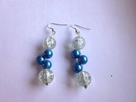 Ohrringe blau/weiß