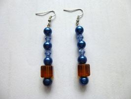 Ohrringe blau/braun