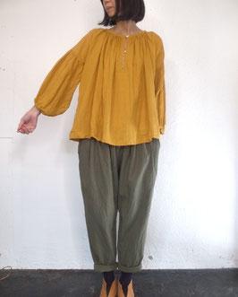 リネン アンティークギャザーシャツ