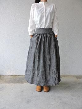 L/Cインディゴダンガリー ギャザー巻スカート